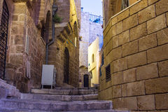 Street in Old Jaffa port. Royalty Free Stock Image
