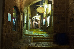 Street in Old Jaffa port. Stock Photo