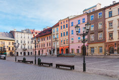 Street in old Krakow, Poland Stock Image