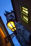 Night street in Prague royalty free stock photos