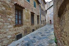 Street in old medieval italian town Stock Image