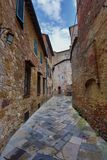 Street in old medieval italian town Royalty Free Stock Images