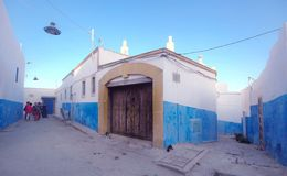Street of the old medina. Rabat capital city of Morocco royalty free stock photos