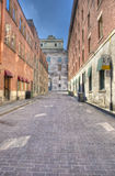Street in Old Montreal hdr Stock Images