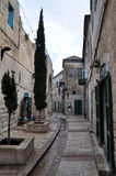 Street in old Nazareth (Israel). Street in downtown of Nazareth Stock Image