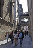 Street in old part of Barcelona. Spain Stock Images