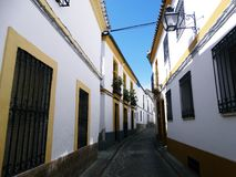 Street in the Old Part in Cordoba Royalty Free Stock Images