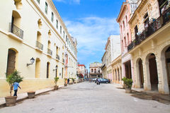 Street in old part of Havana. Cuba Royalty Free Stock Photos