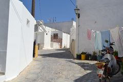 Street in old part of Kefalos Royalty Free Stock Image