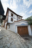 Street of old Plovdiv in Bulgaria Royalty Free Stock Images