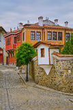 Street of Old Plovdiv Royalty Free Stock Images