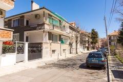 Street in old Pomorie, Bulgaria Stock Photography