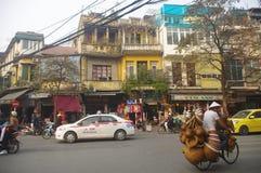 Street in old quarters in Hanoi Stock Photos