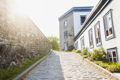 Street of old Quebec Royalty Free Stock Photos