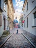 Street in the old Riga city, Latvia Stock Image