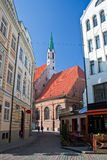 Street of old Riga. Latvia Stock Images