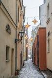 Street in old Riga Royalty Free Stock Photos