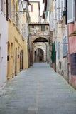 Street of old Siena, Tuscany, Italy Royalty Free Stock Photo