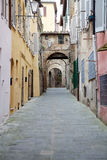 Street of old Siena, Tuscany, Italy Royalty Free Stock Photo