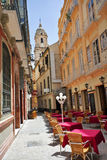 Street of old Spanish town. Royalty Free Stock Image