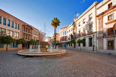 Street of old Spanish town. Stock Photography