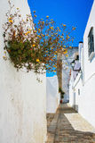 Street of old Spanish town. Stock Image