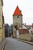 Street of old Tallinn, Estonia, Europe Royalty Free Stock Image