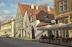 Street of old Tallinn Royalty Free Stock Images
