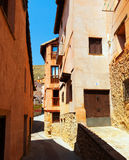 Street of old town. Albarracin Stock Photos