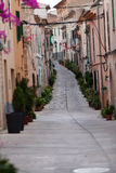 Street in old town of Alcudia Stock Photos