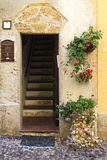 Street of the old town of Alghero, Sardinia, Italy Stock Photos