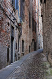 Street in Old Town of Bergamo Stock Image