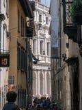 Street in Old Town of Bergamo Stock Image