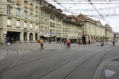 Street of old town in Bern, Switzerland Stock Photography