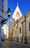 The street in the old town of Bratislava Royalty Free Stock Photo