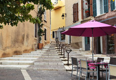 Street in the old town Cassis, Royalty Free Stock Photography