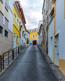 Street in the old town in the center of Lagos, Algarve region, Portugal. Narrow street in Lagos, Algarve, Portugal. Streets in the royalty free stock photos