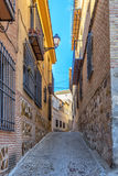 Street of the old town in the center of Toledo. Spain. Royalty Free Stock Photos