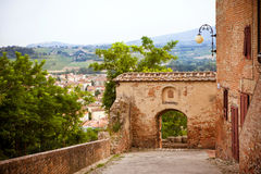 Street in the old town Certaldo, Italy Royalty Free Stock Photography