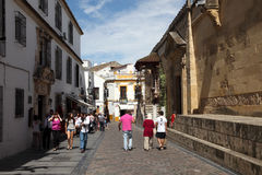 Street in the old town of Cordoba Stock Photo