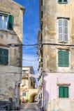 Street in the old town of Corfu island, Greece Stock Photo