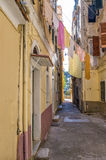 Street in the old town of Corfu island Royalty Free Stock Images