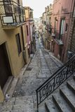 Street of the old town of Corleone in Sicily, Italy. Street of the old town of Corleone, a town known for associating with the mafia in Sicily, Italy Stock Images