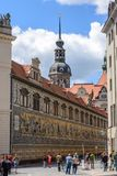 Street in the Old Town of Dresden, Germany Stock Image