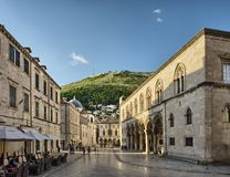 Street in the old town Dubrovnik, Croatia Royalty Free Stock Photo