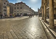 Street in the old town Dubrovnik, Croatia Royalty Free Stock Photography