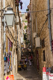 Street in old town of Dubrovnik Royalty Free Stock Image