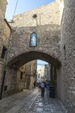 Street of the old town of Erice, Sicily, Italy Stock Photography