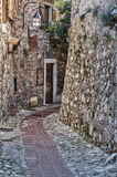 Street in the old town Eze in France. Royalty Free Stock Image