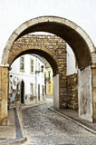 Street in the old town of Faro (Portugal) Royalty Free Stock Images